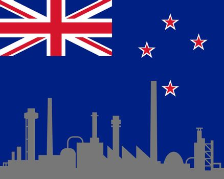 Industry and flag of New Zealand