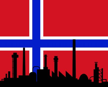 Industry and flag of Norway