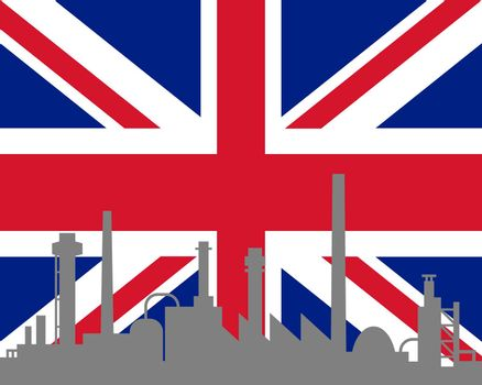 Industry and flag of Great Britain
