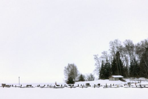 Marina in Winter Canada