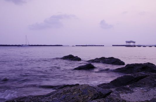 Sunrise at Sichang island, chonburi province,Thailand