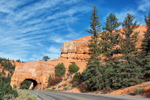 famous Road to Bryce Canyon National Park