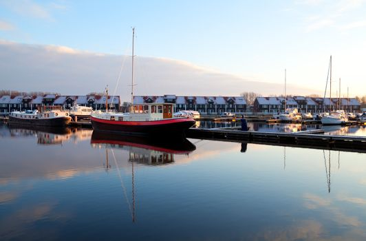 boats at marina in Groningen