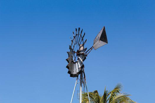 Windmill on the field