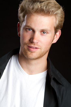 Handsome young blond man portrait