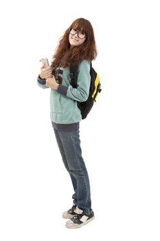 Full length portrait of student