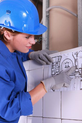 Electrical installation drawing