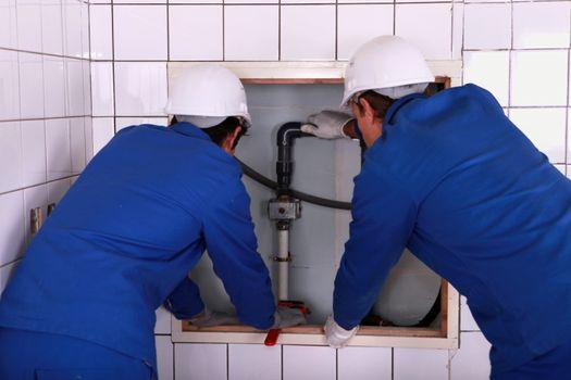 Installation of plumbing