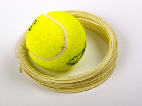 ball and string for tennis racket