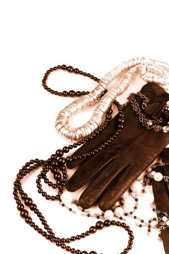 vintage fashion accessories toned image