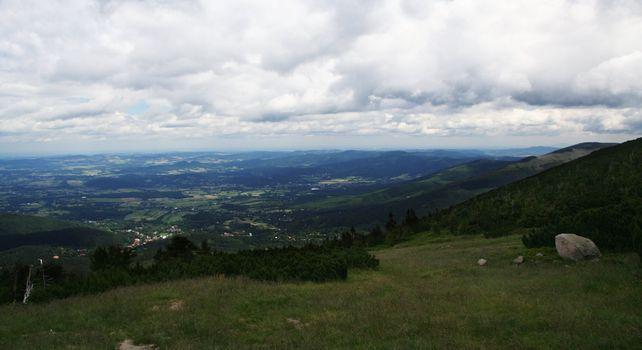 View on the alpine village