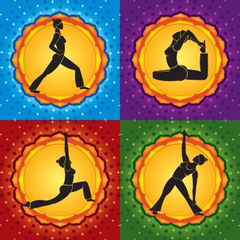 Abstract background representing yoga asanas