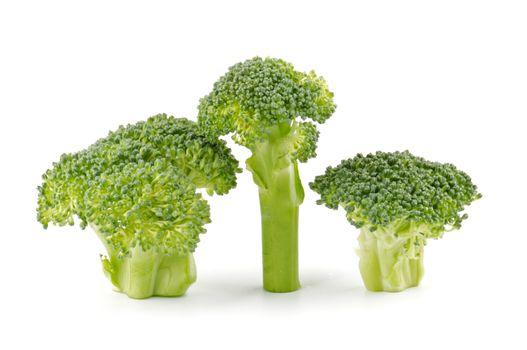 Three broccoli florets