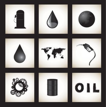 oil icon in the world over white background vector illustration