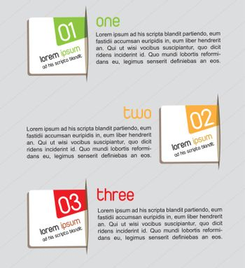 Card with steps and instructions vector illustration