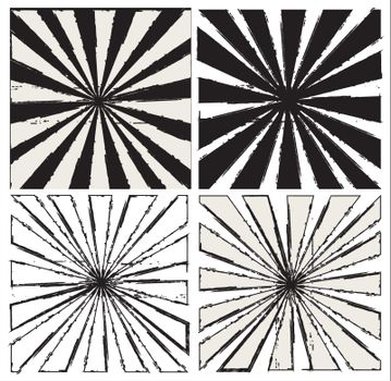 Black and white lines over white background