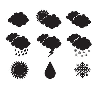 skies silhouettes in different states over white background vector illustration
