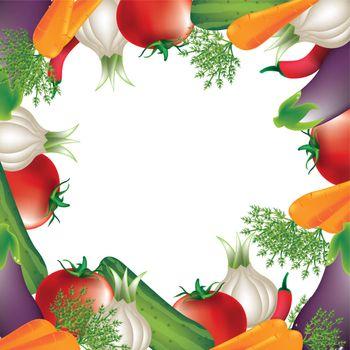 tomato,carrot,onion, over white background vector illustration