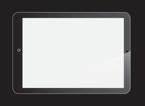 Tablet technology over black background