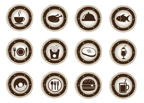 menu icons over white background vector illustration