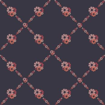 fine retro background with pink flowers