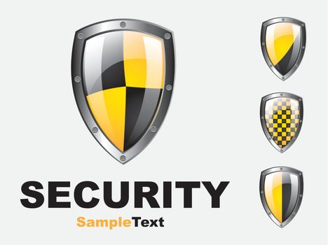 Safety symbol over white  background vector illustration