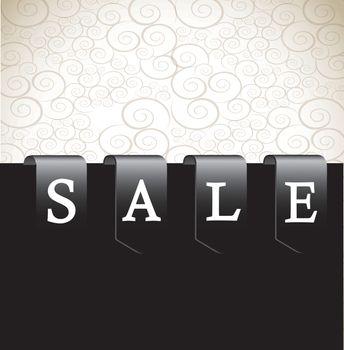 Label sale over white and black background vector illustration