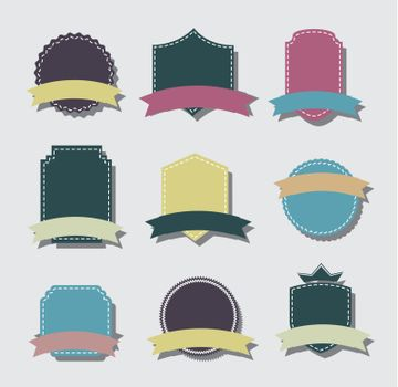 Tags icons vintage over white background vector illustration