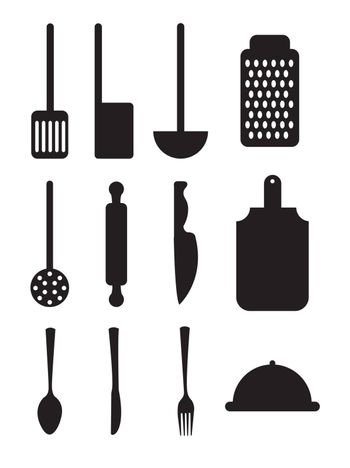 cutlery icons over white background vector illustration