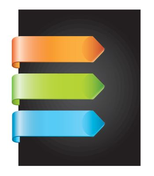 colors tag over black background vector illustration