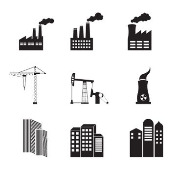 Industry icons over white background vector illustration