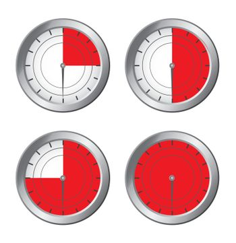 Red Cronometer  over white background vector illustration