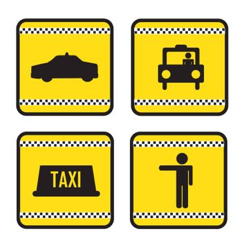 Taxi icons over white background vector illustration