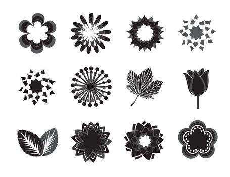 background of flowers over white background vector illustration