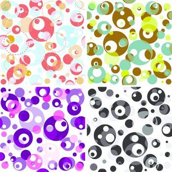Set seamless translucent patterns