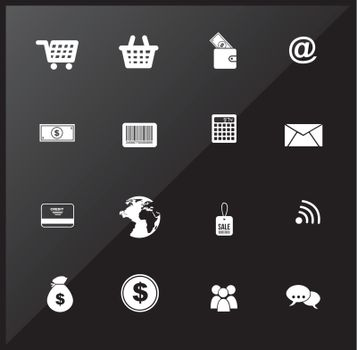 buy icons over chrome background vector illustration