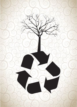Ecology icon over white background vector illustration