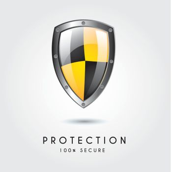 Protection icon over white background vector illustration