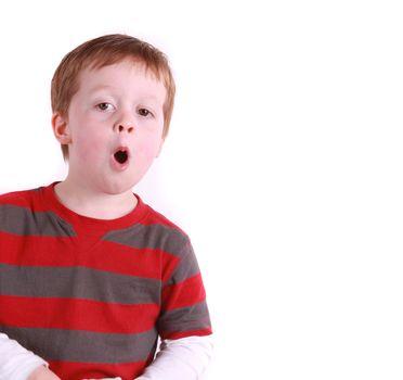 Happy boy sings