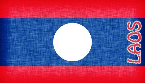 Linen flag of Laos
