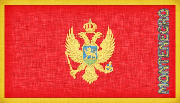 Linen flag of Montenegro
