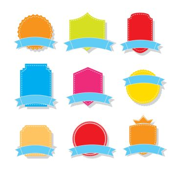 Coloful tags over white background vector illustration