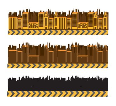 City and buildings over white background vector illustration