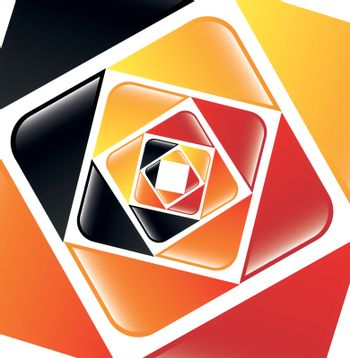 Yellow, red, orange and black background vector illustration
