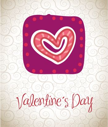 love card to celebrate valentines day vector illustration