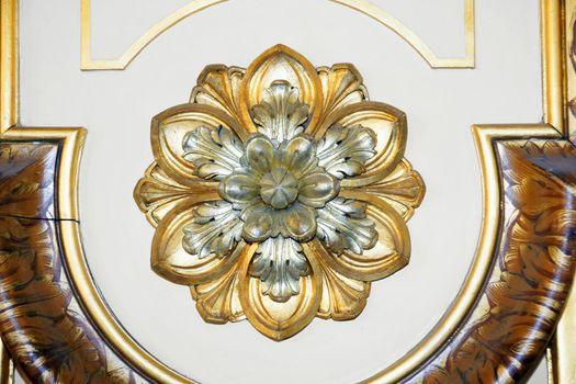 Golden rosette detail