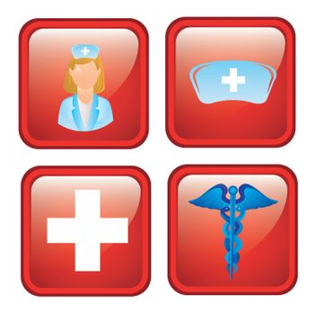 Health icons over black background vector illustration