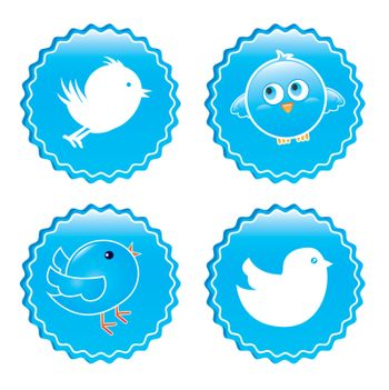 bird icons over white background vector illustration