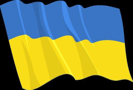 Political waving flag of Ukraine