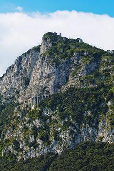 perilous bridge around rugged cliffs capri italy
